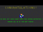 The end screen