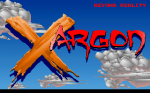 The Xargon title screen