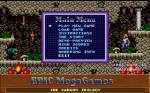 The main game menu