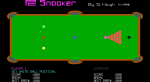 The intial set up for snooker.