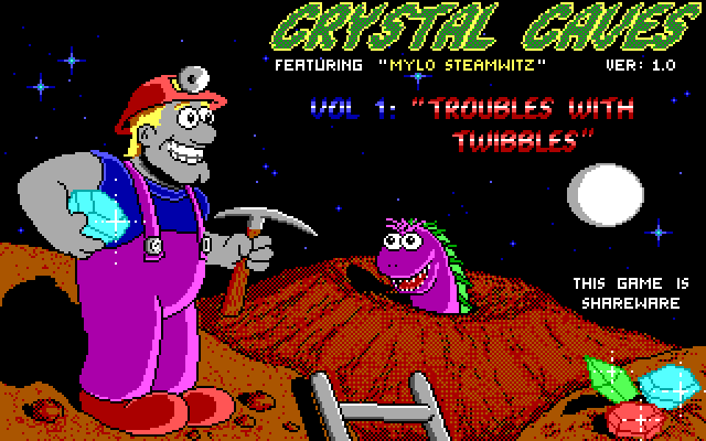 Crystal Caves Title screen
