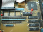 SCSI socket and VGA chip