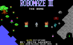Robomaze III: The Dome